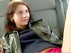 Public amateurs car backseat blowjob