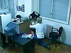 Office fuck caught by hidden cam