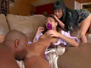 Babysitter seduced by horny couple