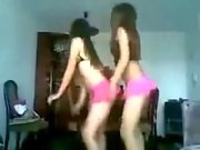 Two Hot Teen Girls Dancing