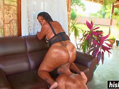 Big black dick pleases a naughty chick