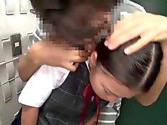 Blacks a connettore bocca giapponese studentessa fottuto