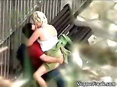 Nasty blonde hoe blows stiff cock