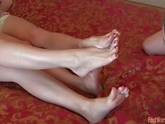 FFC 1 chick worship 2 dommes feet/soles