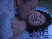 Mosaic: Rin Aoki fucks behind sleeping husband