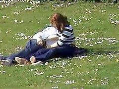 Couple in park job Voyeur.