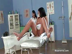 Kinky brunette doctor has a lot of fun part2