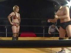 Japanese Mixed wrestling shame