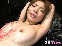 Japanese Slave Toyed With