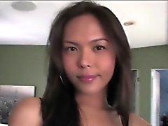 Великолепная Азиатский ледибой Тейлора Stewart сильно ударил клейкой спермой