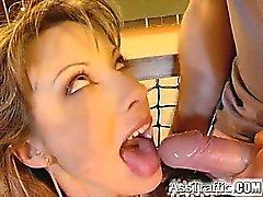 Tennis fan Jessica get some anal on the court at night. Two
