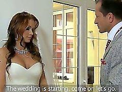 Jättestor bröst bride knullade samt creampied