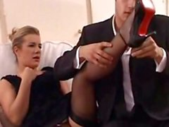 British MILF Louise Parker fucked hard and passionately in bed!