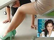 Japanische Wetter Mädchen Pantyhose Füße lecken