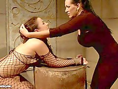 Gorgeous slave girl gets dominated good