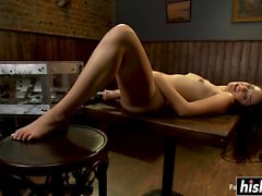 Allie Haze gets fucked by sex machines