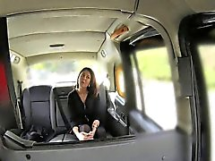 Sticky facial jizz for milf in taxi