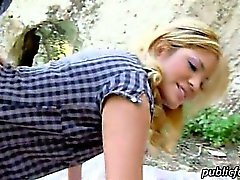 Blonde latina Kazzandra fucked in public