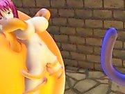 "Komeiji Satori vs tentacles 2 ""futa"" (MMD 3D)"