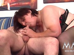 Petra Wegat and redhead granny love hard pounding