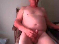 morfar cum på webcam