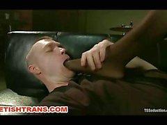 Transsexueller Dom Reingespritzt Spermaschlucken Ass Dehnen Fick