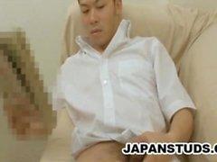 Takehiro Machida: Lonely Japonya Dude Onun Cock Ve Ass ile oynamak