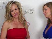 MILFs Jodi Oeste e Brandi Love equipe para Masturbação Taboo
