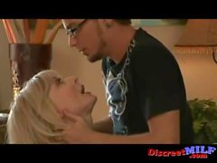 Busty Mature MILF With Young Nerd
