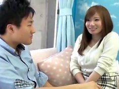 Busty Japanese slut has her Asian hairy pussy made love