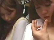 Office Lady Getting Her Hairy Pussy Fingered Sucking Guy Cock Getting Facial On The Bus