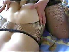 Russische Gattin fickt große dem Strapon ihrem Mann