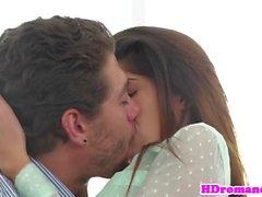 Girlfriend riding her man after oralsex