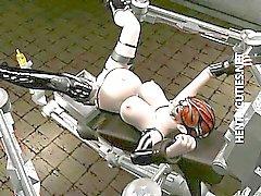 Пуллер 3D Hentai раб трахнут