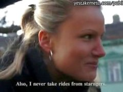 Masum Çek kız kamu seks için yabancı para alır