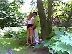 Selbst gemachte Dogging in den Wald