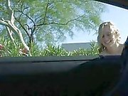MaeLynn sweet little amateur blonde toying pussy in public and walking naked outdoors getting wet