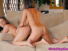 Rimmed lesbian model fingers babes pussy