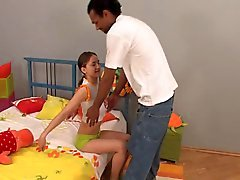 cute tiny teen with lovely nipples gets bbc facial eliman