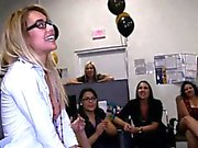 Pretty playgirl gets fucked in front of her friends.