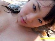 Jav Amateur Arisa Mirai se burla en la playa muy linda
