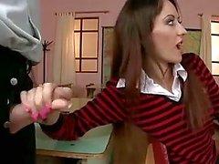 Mooi schoolmeisje DP en DAP