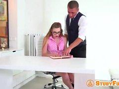 Russian Schoolgirl With Glasses
