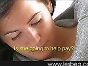 Teen lesbian sex behind mom's back