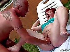 Mature fat redhead whore with pale skin and hanging tits - hot videoclip Pornsharing