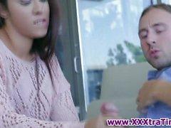 Little latina gets oral