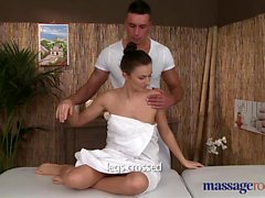 Massage Rooms Sexy client enjoys studs big hard cock