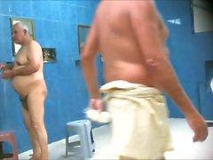 mäns duschar