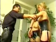 Two french slaves dominated by two masters PART1