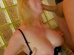 Sexy busty grandma gets fucked rough